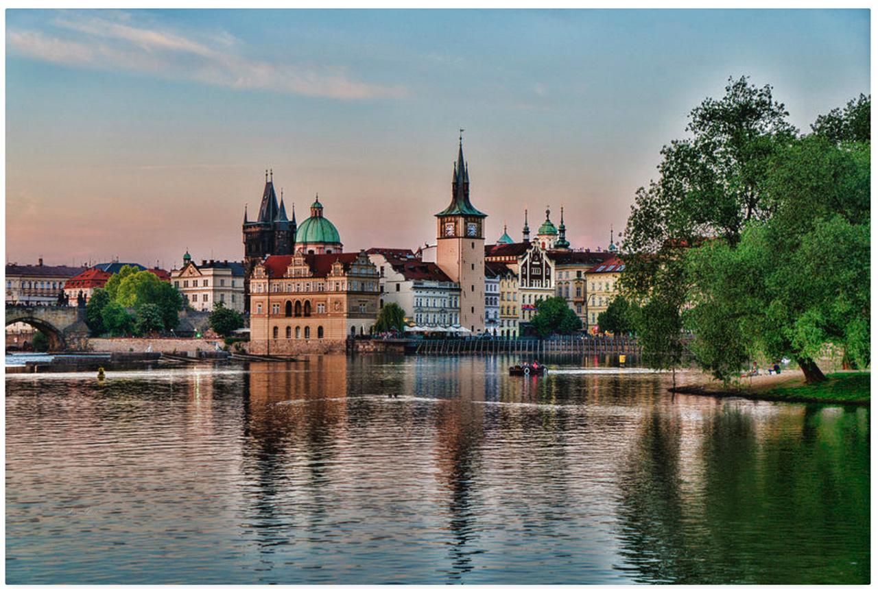 Prague Architecture from River Vltava