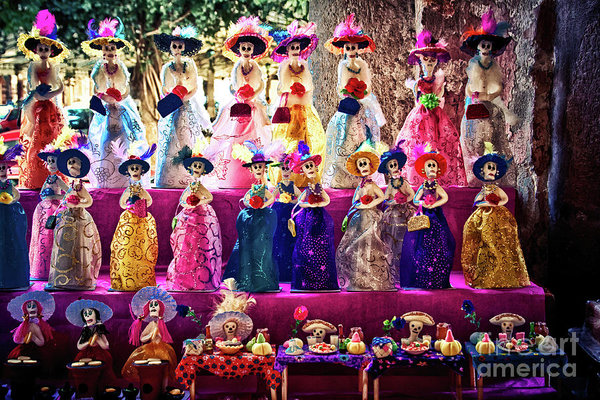 Mexican La Calavera Catrina and the Day of the Dead