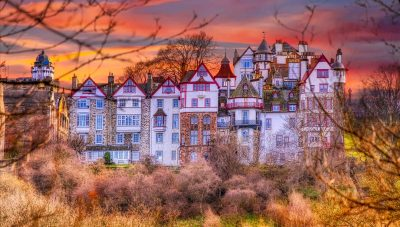 Edinburgh in autumn The Ramsay Garden by Micah Offman