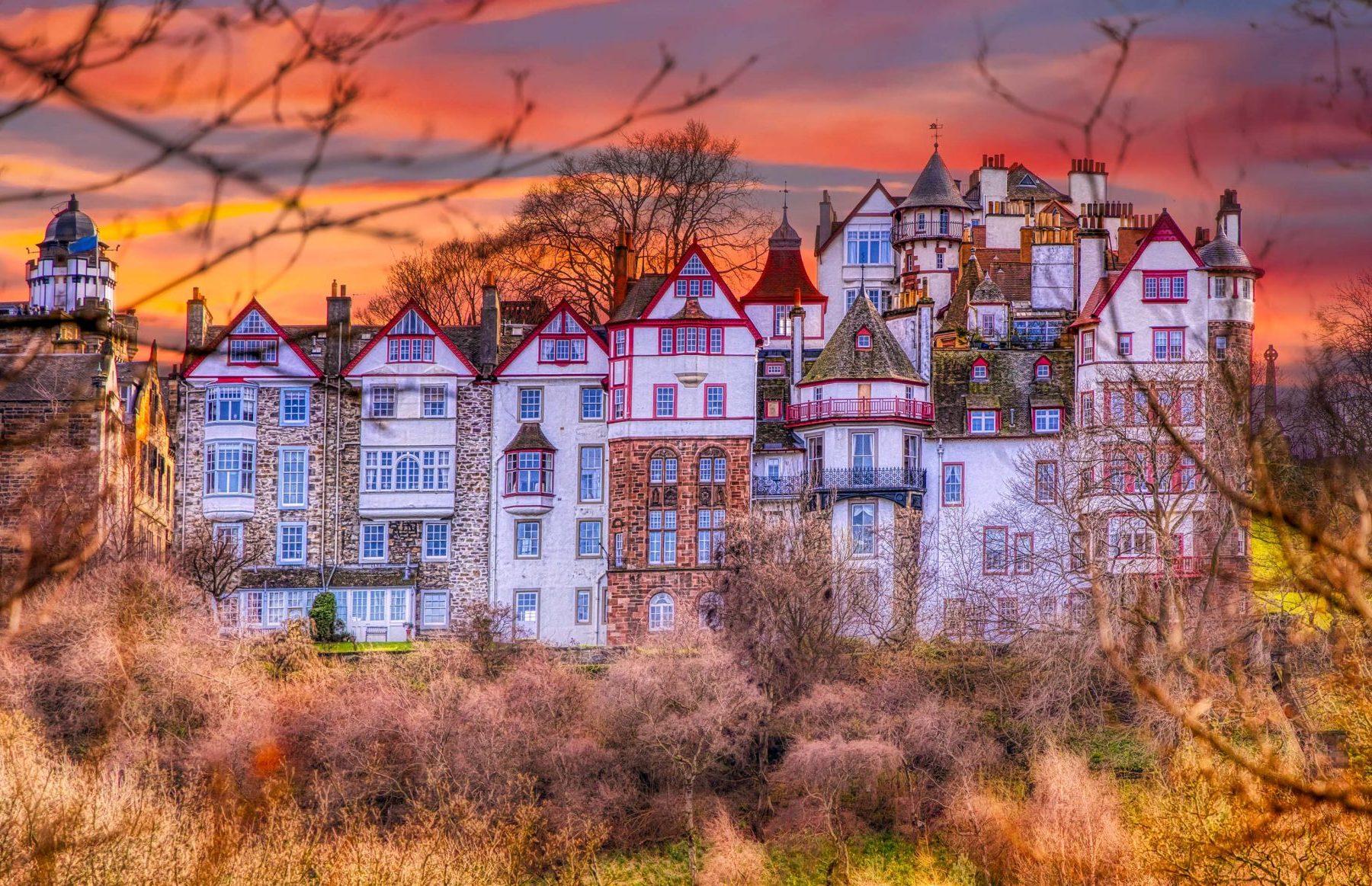 Edinburgh in autumn The Ramsay Garden by Micah Offman