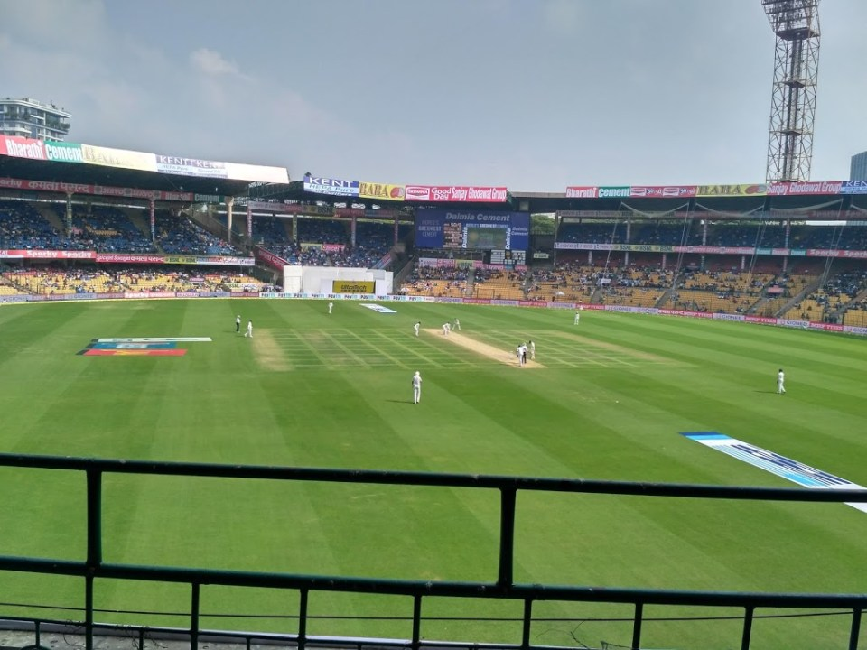 Test cricket at the Chinnaswamy stadium Bangalore