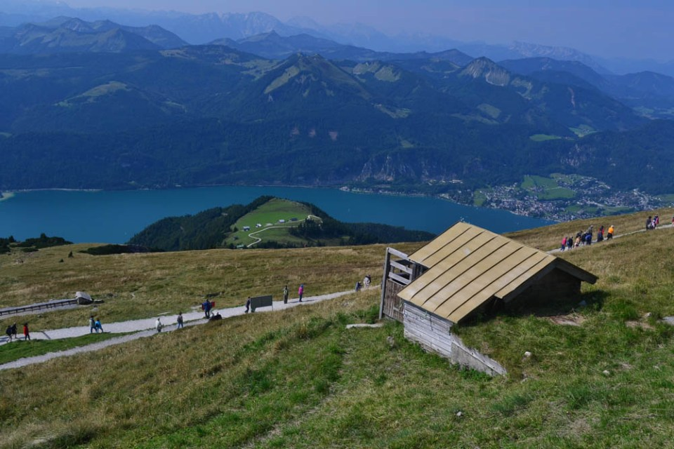 Wolfgangsee from atop Schafberg