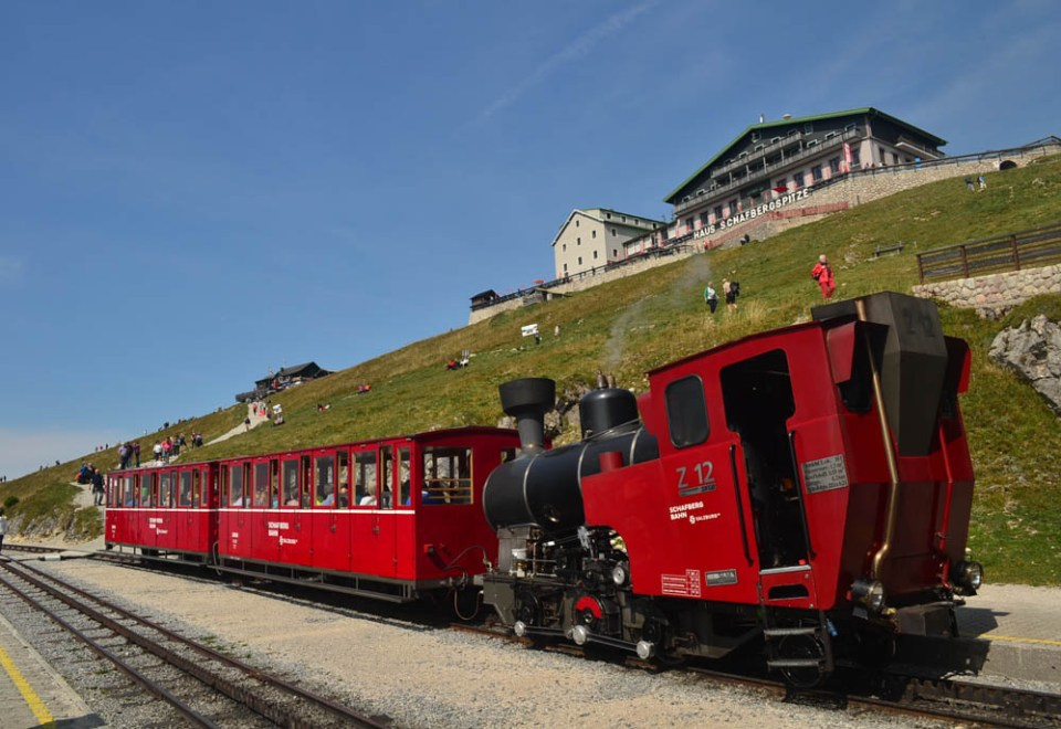 Schafberg mountain railway at the summit