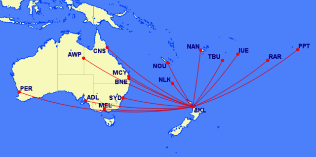 South Pacific islands to anywhere in Australia