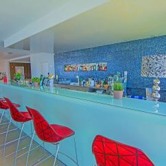 Sofa Bar Protaras Italian White Leather Hotel Tsokkos Silver Sands Beach Cyprus