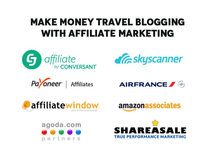 Make money travel blogging with affiliate marketing