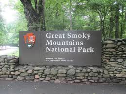 South Entrance to Great Smoky Mountains near Cherokee NC
