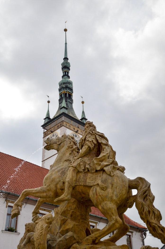 Olomouc, Czech Republic, Town Hall fountain