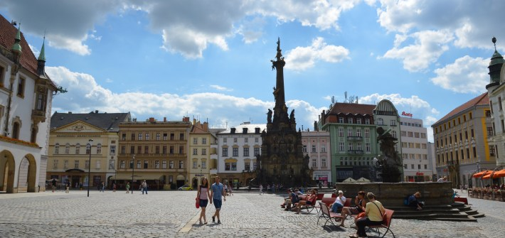 Olomouc, Upper Square, Czech Republic