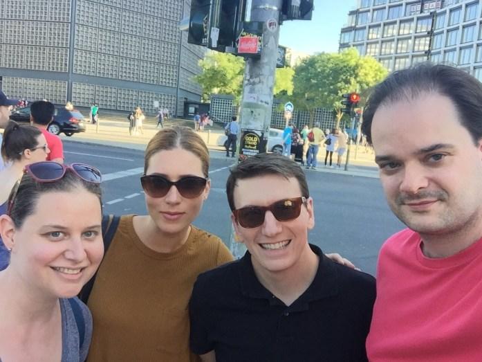 With friends in Berlin, Germany