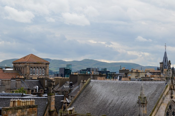 View from the National Museum of Scotland in Edinburgh