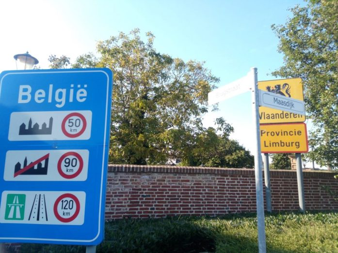 Belgian border in the Netherlands
