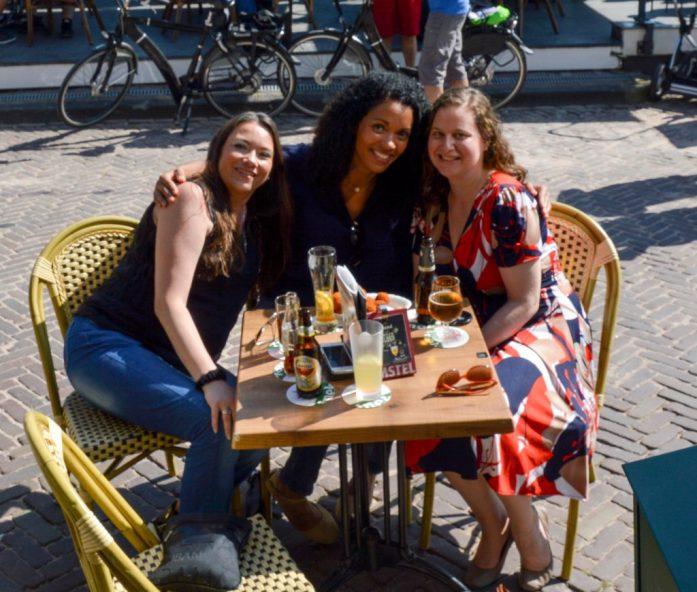 With Xandra and Afra in Volendam, the Netherlands