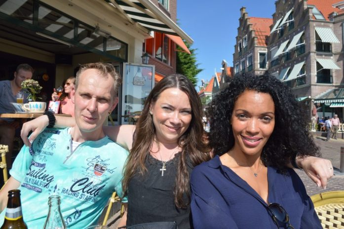 With Niels, Xandra, and Afra in Volendam, the Netherlands