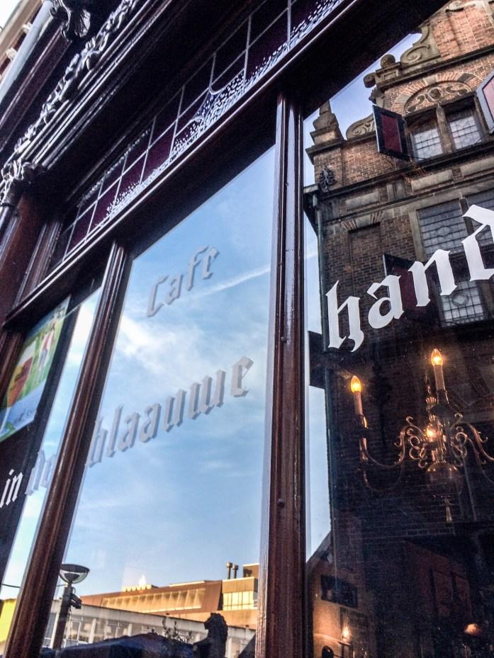 Cafe in de Blaauwe Hand in Nijmegen, the Netherlands