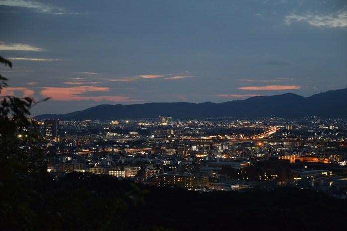 View of Kyoto at Fushimi Inari-taisha, Japan