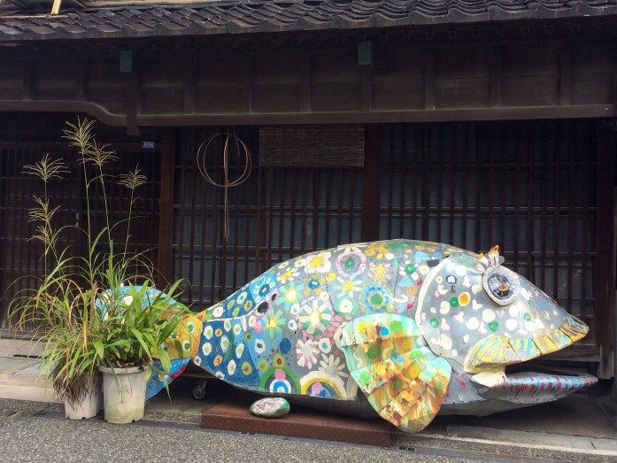 Fish sculpture, Kanazawa, Japan