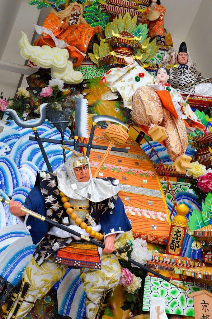 Festival float at Kushida-jinja Shrine, Fukuoka, Japan