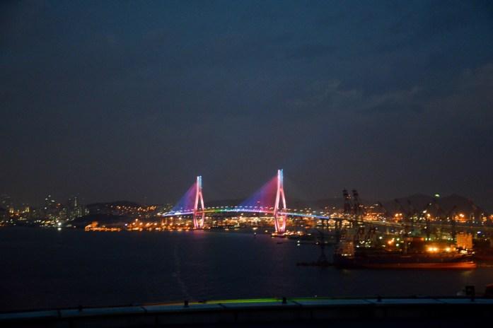 View of Gwangandaegyo Bridge from Lotte Department Store, Busan, South Korea