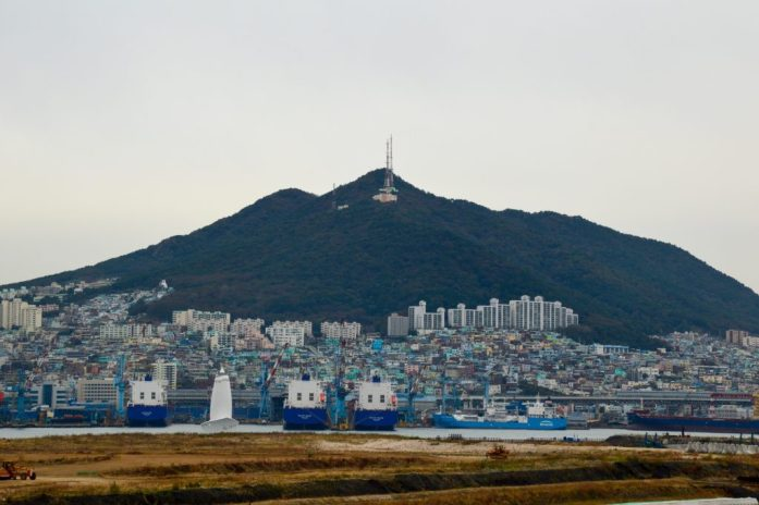 View from Busan Station, South Korea