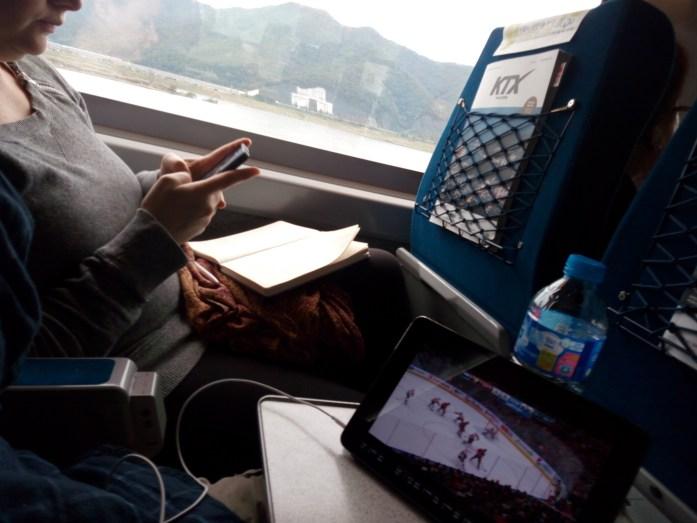 Traveling from Busan to Seoul via KTX, South Korea
