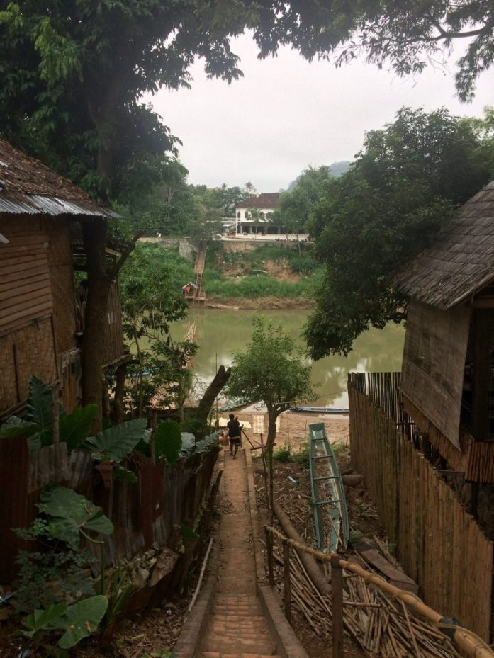 The way down to the Nam Khan river crossing in Luang Prabang, Laos