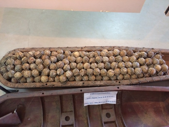 Bombies at the UXO Lao Visitor Centre in Luang Prabang