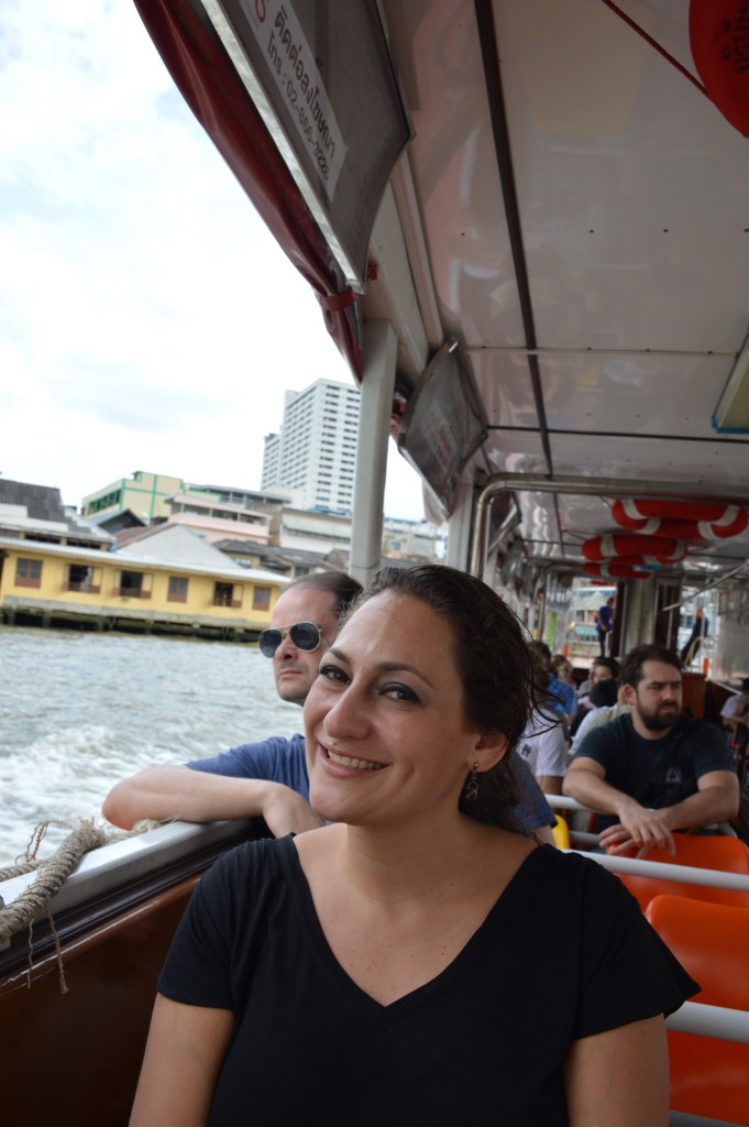 On the Chao Phraya Express Boat, Bangkok, Thailand