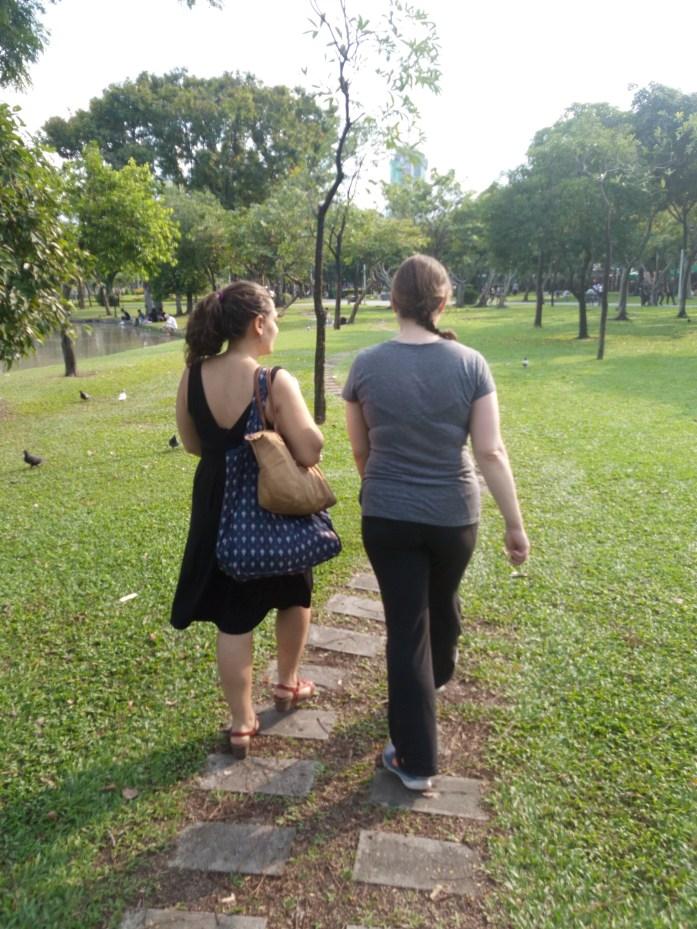 Walking in Chatuchak Park, Bangkok, Thailand