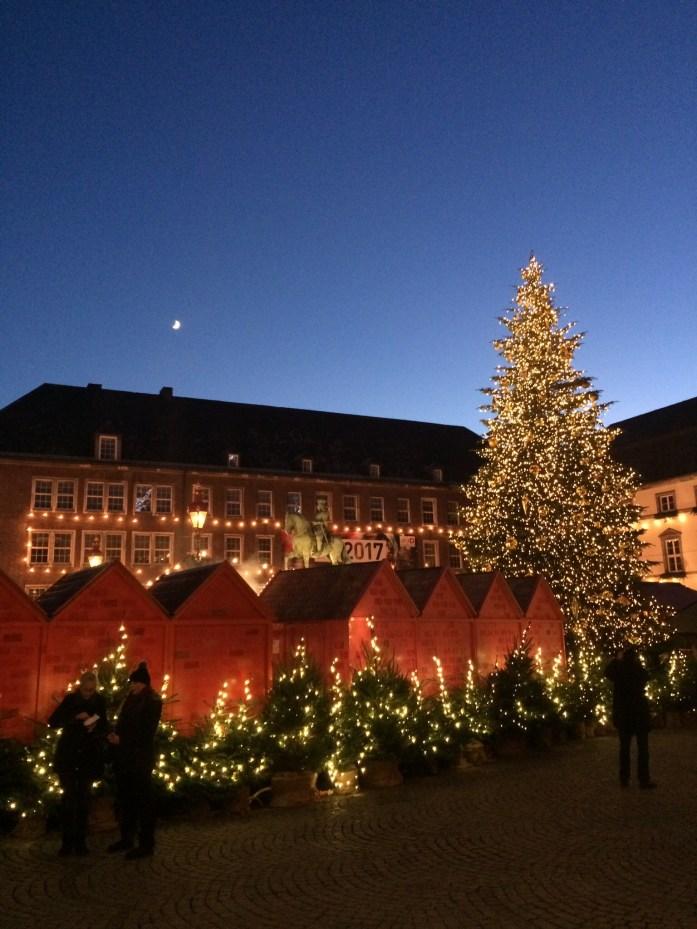 Christmas Market in Düsseldorf, Germany