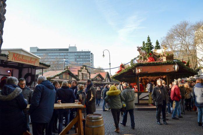 Christmas Market at Rudolfplatz in Köln, Germany