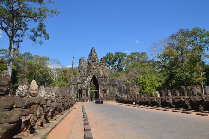 South Gate to Angkor Thom, Angkor Archaeological Park, Cambodia