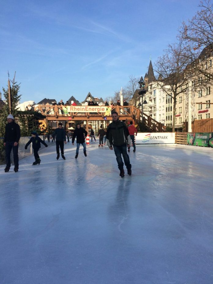 Ice skating in Köln, Germany