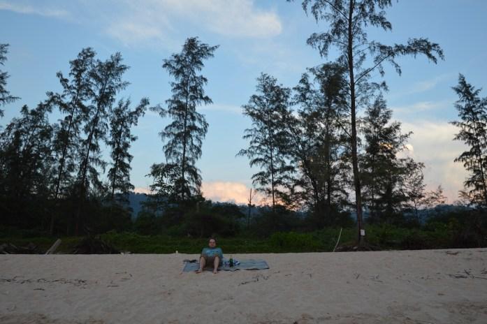 Watching the sunset on Ko Lanta, Thailand