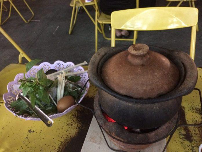 Hot pot dinner at Chiang Rai Night Bazaar, Thailand