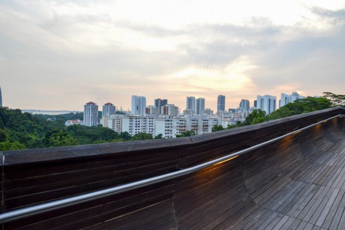View from Henderson Waves Bridge, Singapore