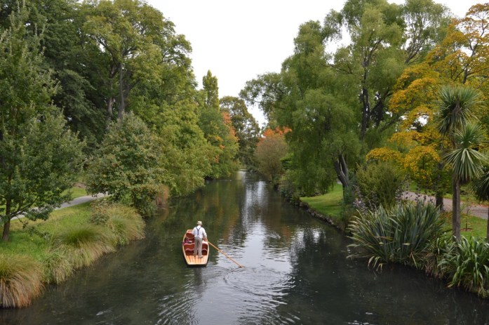 Avon River, Hagley Park in Christchurch, New Zealand