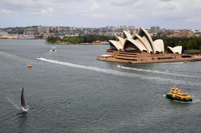 View of the Sydney Opera House from the Sydney Harbour Bridge, Australia