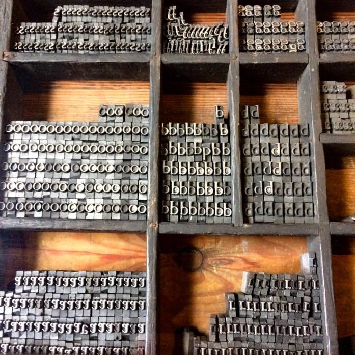 Typesetting letters, Plantin-Moretus Museum, Antwerp, Belgium
