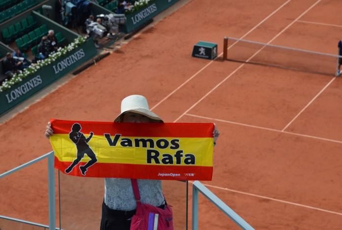 Vamos Rafa, French Open, Roland Garros, Paris, France