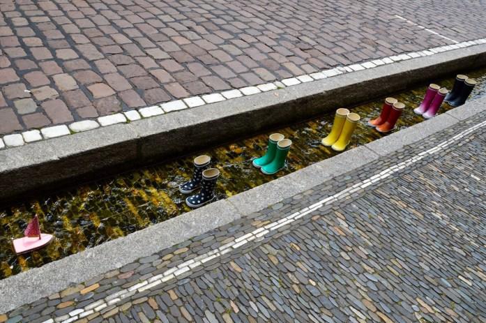 Rainboots, Freiburg Bächle, Germany