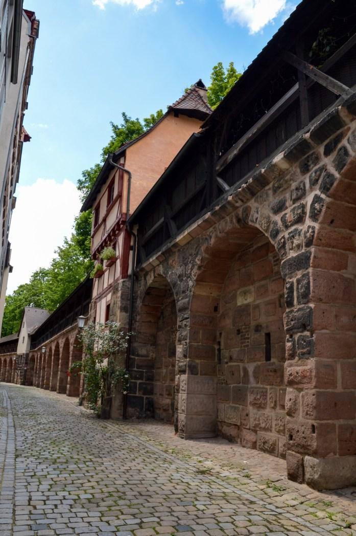 Nuremberg old city walls, Germany