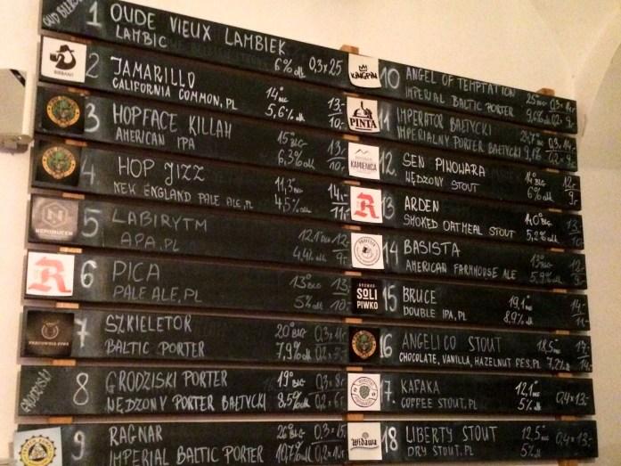 Tap beer list, Kontynuacja, Wroclaw, Poland