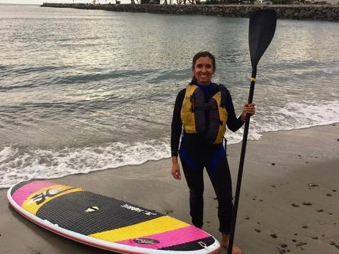 Nisha paddleboarding