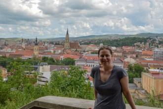 View from Cetatuia Hill, Cluj-Napoca, Romania