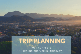 Our complete around the world itinerary