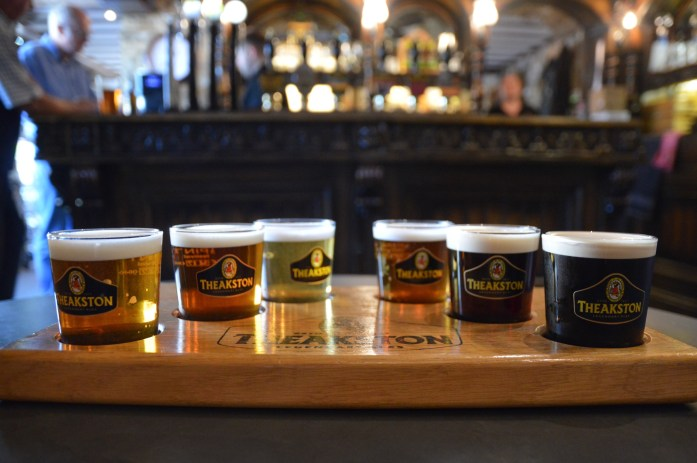 Tasting, Theakston Brewery, Masham, North Yorkshire, UK