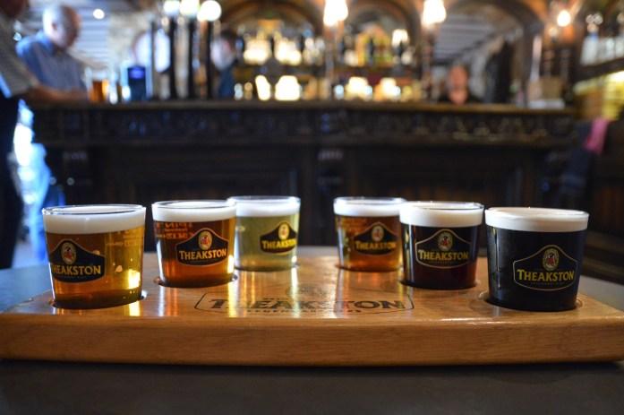 Tasting, Theakston Brewery, Masham, North Yorkshire, UK