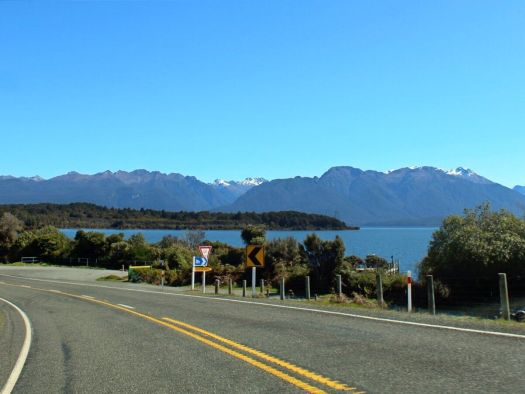 View of the road and surrounds at Eglinton River
