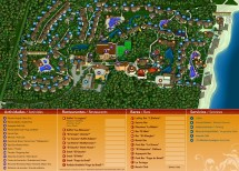 Sandos Caracol Eco Resort Map